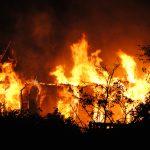Pożar kontenerów mieszkalnych w gminie Dywity. Dwie rodziny straciły dach nad głową