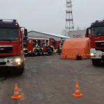 Wyciek substancji chemicznej na ul. Cementowej w Olsztynie. Konieczna była ewakuacja jednego z budynków