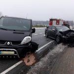 Osiem osób zostało rannych. Na drogach regionu doszło do dwóch wypadków