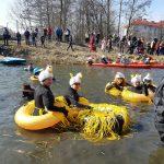 Płetwonurkowie z całej Polski witali wiosnę. W Olsztynie odbył się Skorpenowy Spływ Łyną