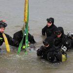 Ewakuacja mieszkańców po odkryciu niewybuchu na dnie jeziora