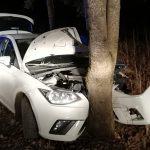 Cztery osoby ranne w wypadku samochodowym w miejscowości Krzywe