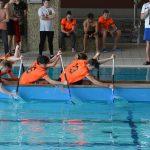Smocze łodzie w olsztyńskiej Aquasferze. Uczniowie rywalizowali w nowej konkurencji