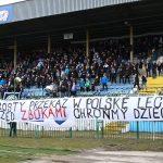 Stomil Olsztyn ukarany za transparent podczas meczu z Wigrami Suwałki
