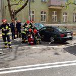 Zderzenie dwóch aut sparaliżowało ruch na ulicy Partyzantów w Olsztynie