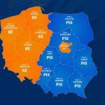 Sondażowe wyniki wyborów. PiS wygrywa na Warmii, Mazurach i Podlasiu