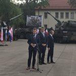 Minister obrony narodowej i premier Chorwacji odwiedzili żołnierzy w Bemowie Piskim