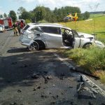 Wypadek między Mrągowem a Mikołajkami. Kierowca busa został przewieziony do szpitala