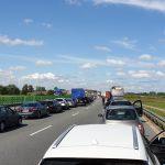 Dwa wypadki na S7 między Pasłękiem a Elblągiem. Droga w kierunku Gdańska była zablokowana