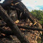 Pożar tartaku i stodoły koło Ostródy