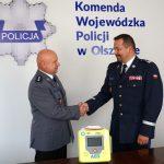 Ma służyć policjantom i mieszkańcom Warmii i Mazur. Urządzenie ratujące życie trafiło do Komendy Wojewódzkiej Policji