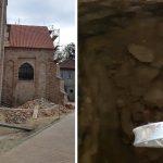 Robotnicy podczas remontu kościoła znaleźli skarby z XVII wieku. Zobacz zdjęcia