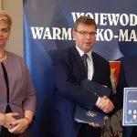 Powiat olsztyński z rekordowym wsparciem z Funduszu Dróg Samorządowych. Umowy podpisały także Iława, Jeziorany i Pisz