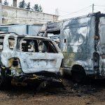 Osiem samochodów spłonęło na jednym z parkingów w Elblągu. Policja podejrzewa podpalenie
