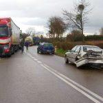 Zderzenie czterech aut między Lidzbarkiem Warmińskim a Bartoszycami. Nie ma już utrudnień