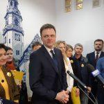 Bezpartyjny kandydat na prezydenta Szymon Hołownia odwiedził Olsztyn