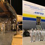 Do Polski leci największy transportowy samolot świata ze sprzętem medycznym z Chin. Jest możliwość śledzenia giganta