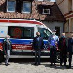 Nowy ambulans dla szpitala w Dobrym Mieście. Specjalistyczna karetka kosztowała kilkaset tysięcy złotych