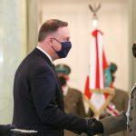 Generalskie szlify dla komendanta warmińsko-mazurskiej straży granicznej Roberta Inglota. Nominację odebrał z rąk prezydenta Dudy