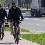 Patrole rowerowe wróciły na ulice Elbląga. Można je spotkać na Starym Mieście i w Bażantarni