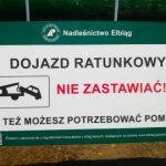 Turyści zastawiają drogi ratunkowe w okolicach Mierzei Wiślanej. W lasach zawieszono specjalne tablice