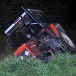 Wracał traktorem z grzybobrania. Był pijany w sztok