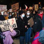 Kolejny raz na ulicach Olsztyna protestowano przeciwko orzeczeniu Trybunału Konstytucyjnego