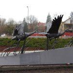 """Nowy punkt na mapie turystycznej Olsztyna. """"Warmińskie żurawie"""" to dzieło wybitnego rzeźbiarza"""