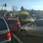 Kolizja 8 aut na jednym z głównych skrzyżowań w Olsztynie. Policja ustaliła kto zawinił