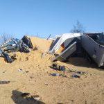 Nieszczęśliwy wypadek na DK65. Nie żyje kierowca ciężarówki