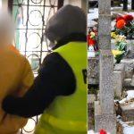 Cmentarny wandal tymczasowo aresztowany. Rozpoczęła się naprawa ponad 200 nagrobków, które zdewastował