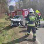 Wypadek na drodze krajowej numer 51. Ranne zostały cztery osoby