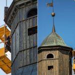 Zegar na wieży kościelnej w Piszu znów będzie odmierzał czas