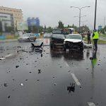 Jedna osoba ranna w wypadku w Olsztynie. Na drogach regionu doszło do kilku kolizji