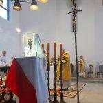 Relikwiarz z kroplą krwi Prymasa Tysiąclecia trafił do parafii na olsztyńskich Jarotach