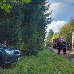 Nowy sprzęt, drony, kamery do pomocy w gaszeniu pożarów. Strażacy i służby testowali sprzęt w Łęgajnach