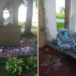 Zdewastowano kapliczkę koło Ostródy. Trwa dochodzenie