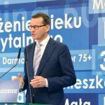 Premier Mateusz Morawiecki w Nidzicy: Jako jedyni jesteśmy gwarantami, że programy rozwojowe zostaną utrzymane