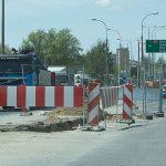 Zmienia się organizacja ruchu na ulicy Towarowej w Olsztynie. Kierowcy pojadą nową jezdnią i tymczasowym rondem