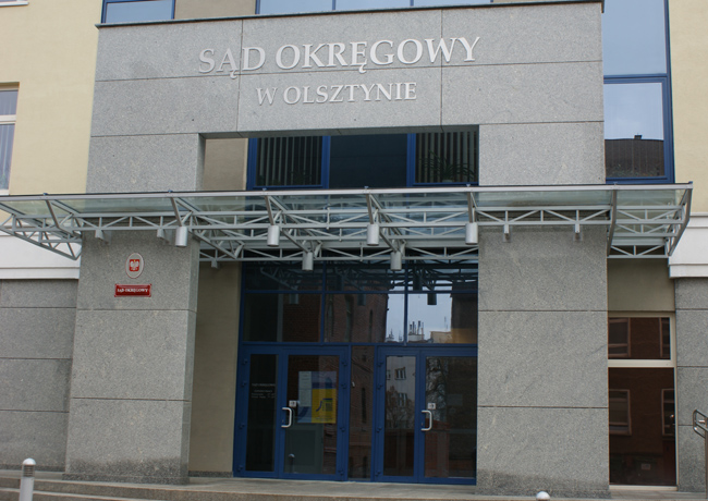 Sąd Okręgowy w Olsztynie, fot. A. Socha
